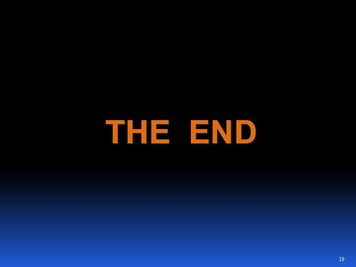 THE END 19
