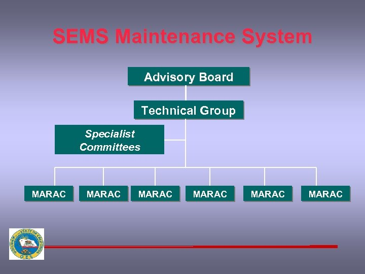 SEMS Maintenance System Advisory Board Technical Group Specialist Committees MARAC MARAC