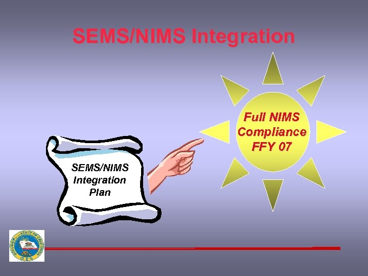 SEMS/NIMS Integration Full NIMS Compliance FFY 07 SEMS/NIMS Integration Plan