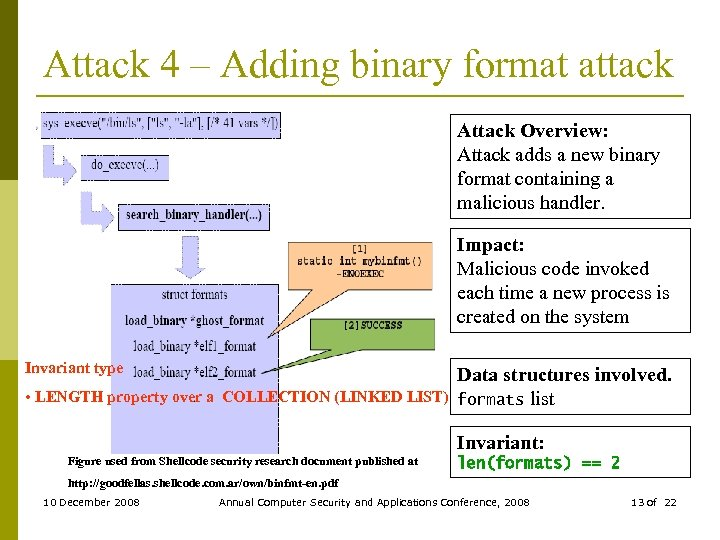 Attack 4 – Adding binary format attack Attack Overview: Attack adds a new binary