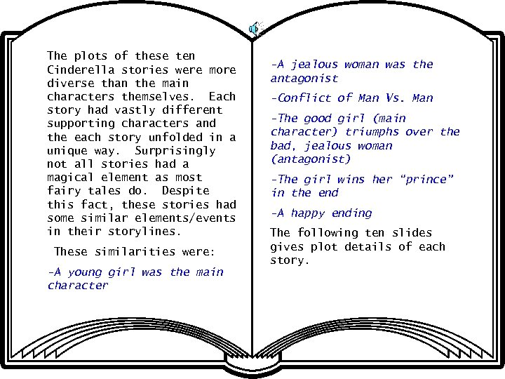 The plots of these ten Cinderella stories were more diverse than the main characters