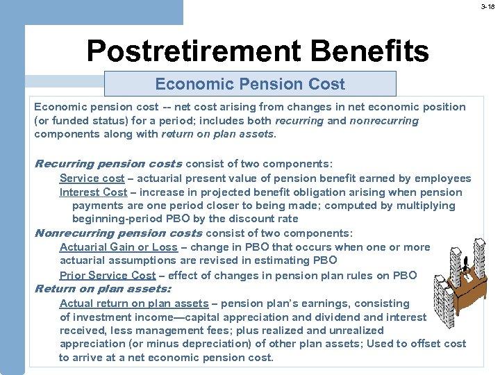 3 -18 Postretirement Benefits Economic Pension Cost Economic pension cost -- net cost arising
