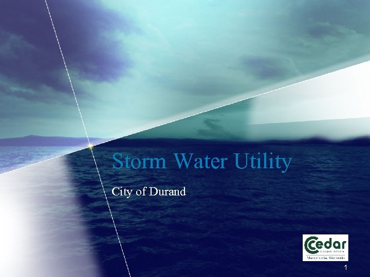 Storm Water Utility City of Durand 1