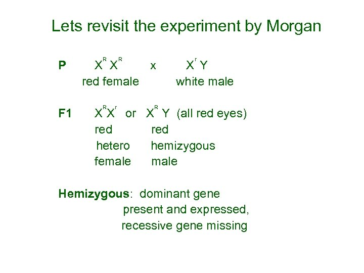 Lets revisit the experiment by Morgan R R r P X X x X