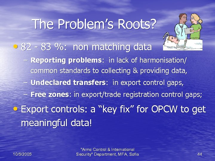 The Problem's Roots? • 82 - 83 %: non matching data – Reporting problems:
