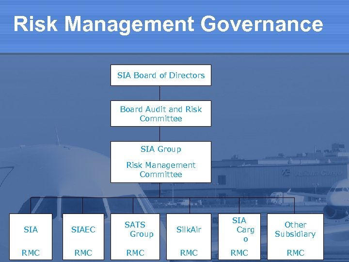 Risk Management Governance SIA Board of Directors Board Audit and Risk Committee SIA Group