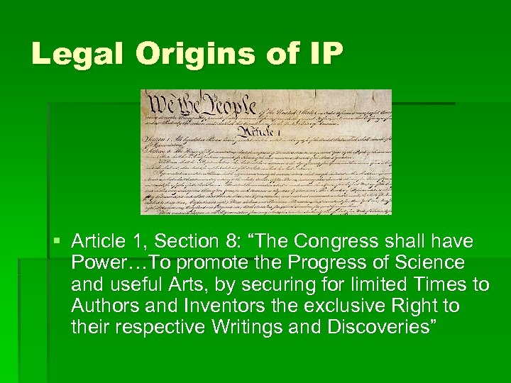 Intellectual Property and the Internet Matt Krusz