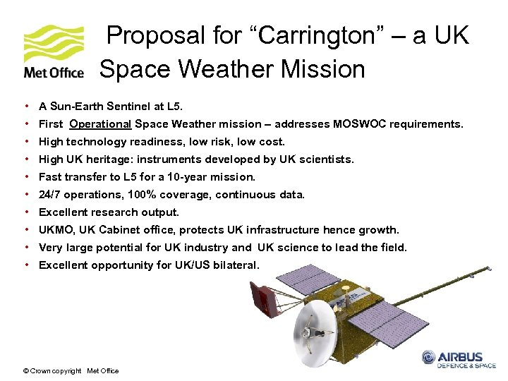 """Proposal for """"Carrington"""" – a UK Space Weather Mission • A Sun-Earth Sentinel at"""