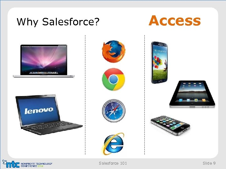 Why Salesforce? Salesforce 101 Access Slide 9
