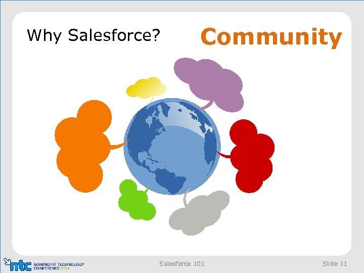 Why Salesforce? Community Salesforce 101 Slide 11
