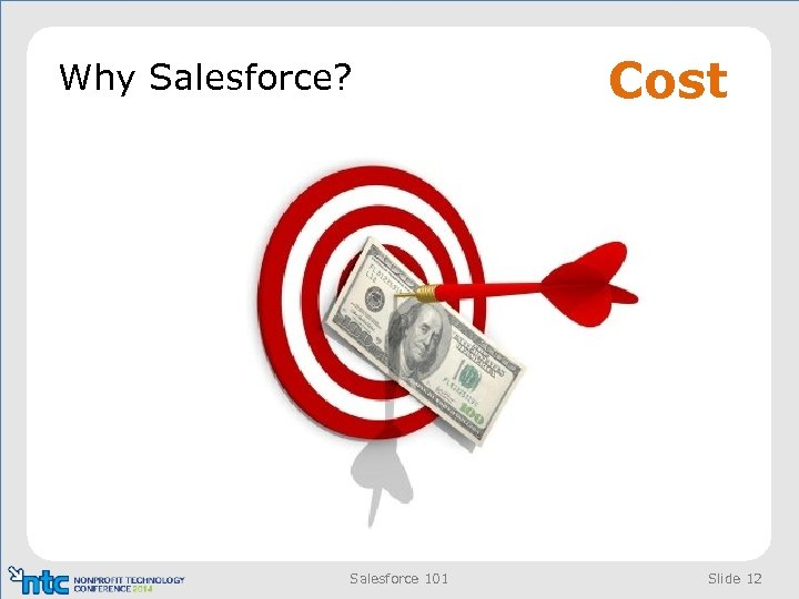 Why Salesforce? Salesforce 101 Cost Slide 12