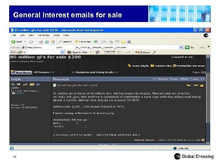 General Interest emails for sale 14