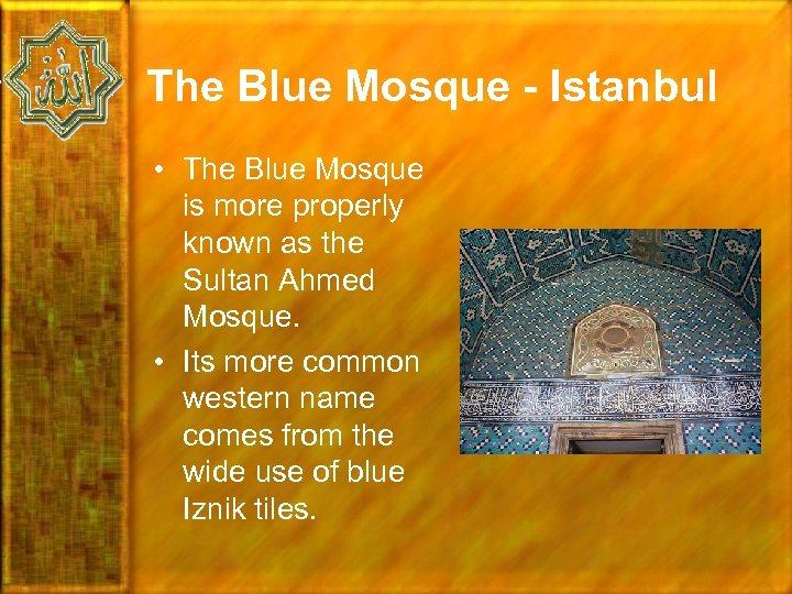 The Blue Mosque - Istanbul • The Blue Mosque is more properly known as