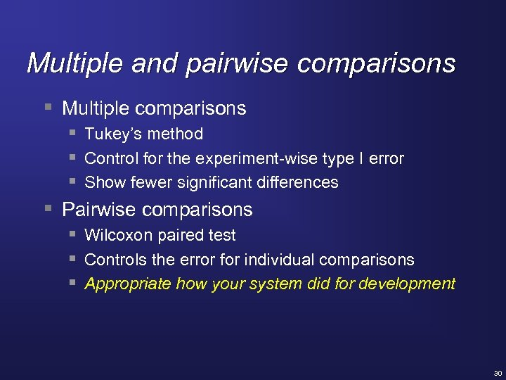 Multiple and pairwise comparisons § Multiple comparisons § Tukey's method § Control for the