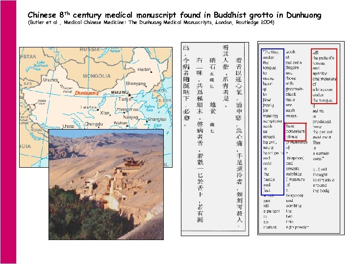 Chinese 8 th century medical manuscript found in Buddhist grotto in Dunhuang (Butler et