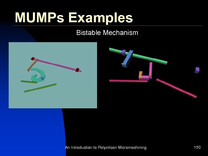 MUMPs Examples Bistable Mechanism An Introduction to Polysilicon Micromachining 150