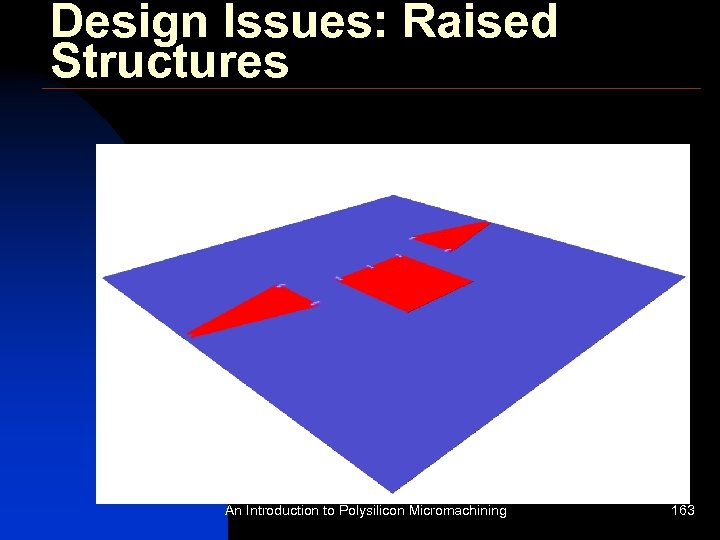 Design Issues: Raised Structures An Introduction to Polysilicon Micromachining 163