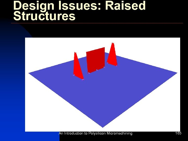 Design Issues: Raised Structures An Introduction to Polysilicon Micromachining 165