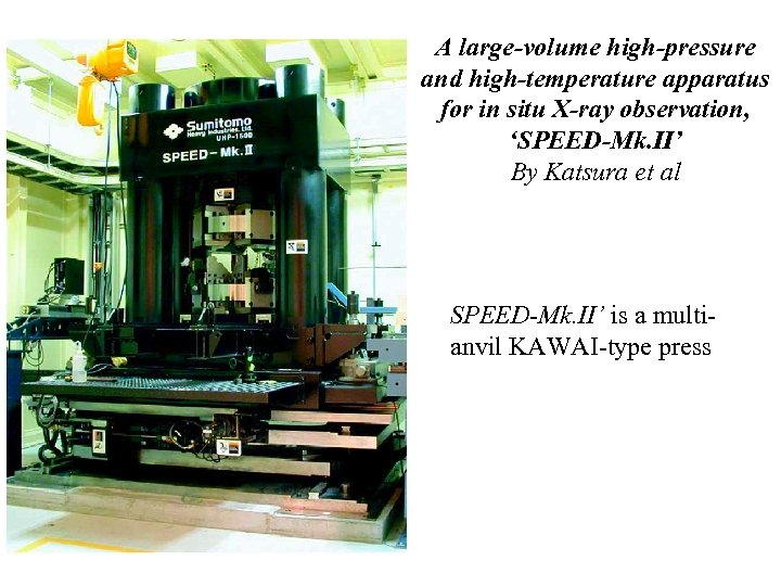A large-volume high-pressure and high-temperature apparatus for in situ X-ray observation, 'SPEED-Mk. II' By