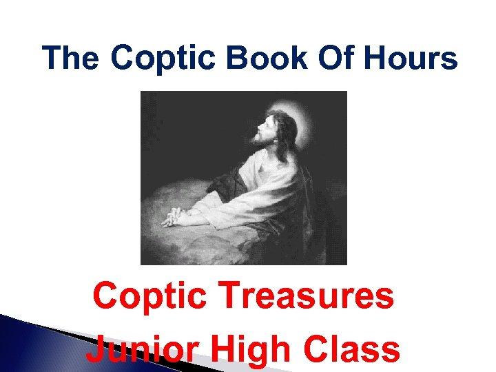 The Coptic Book Of Hours Coptic Treasures Junior High Class
