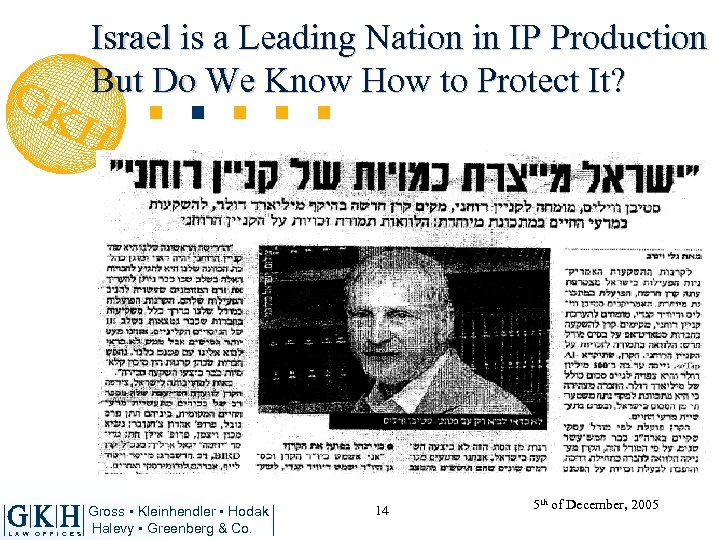 Israel is a Leading Nation in IP Production But Do We Know How to
