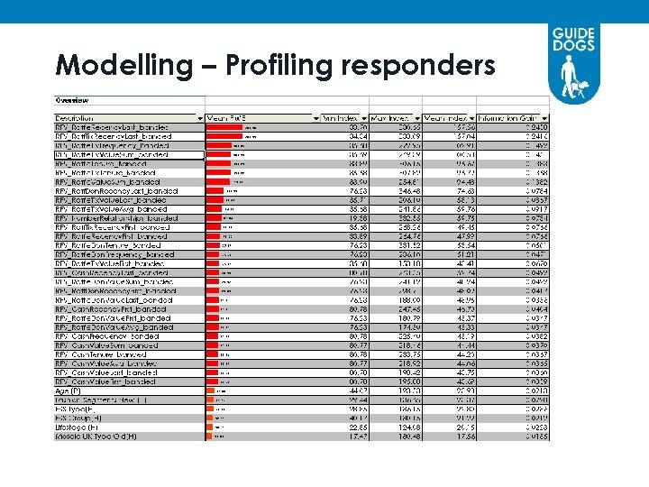 Modelling – Profiling responders
