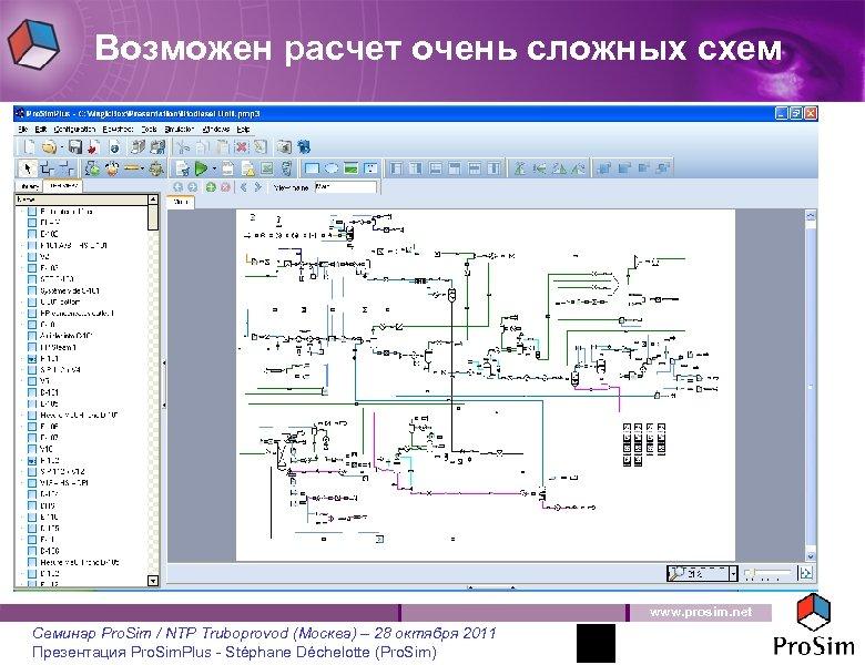 Возможен расчет очень сложных схем www. prosim. net Семинар Pro. Sim / NTP Truboprovod