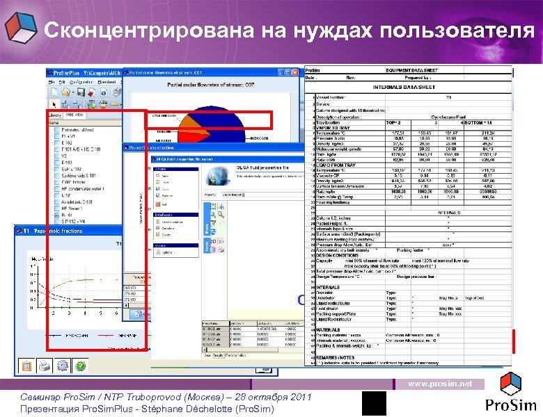 Сконцентрирована на нуждах пользователя Aspen TASC (PSF file) OLGA (PVT file) www. prosim. net