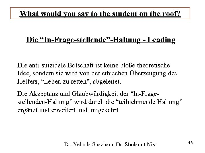 """What would you say to the student on the roof? Die """"In-Frage-stellende""""-Haltung - Leading"""