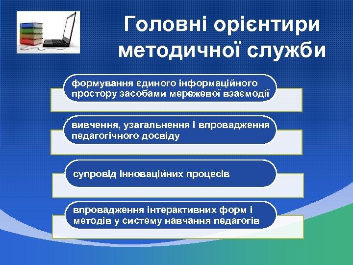 Головні орієнтири методичної служби формування єдиного інформаційного простору засобами мережевої взаємодії вивчення, узагальнення і