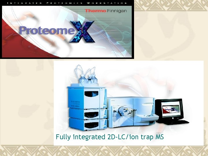 Fully integrated 2 D-LC/ion trap MS