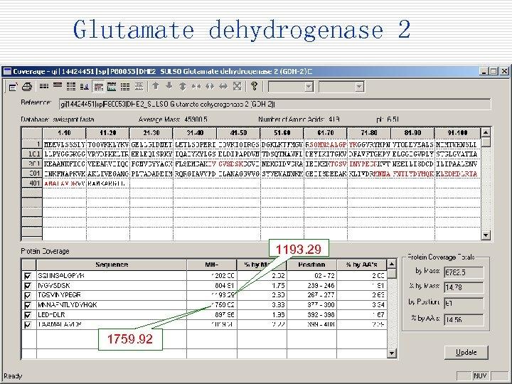 Glutamate dehydrogenase 2 1193. 29 1759. 92