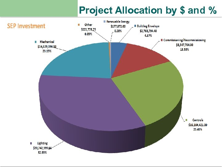 Project Allocation by $ and %