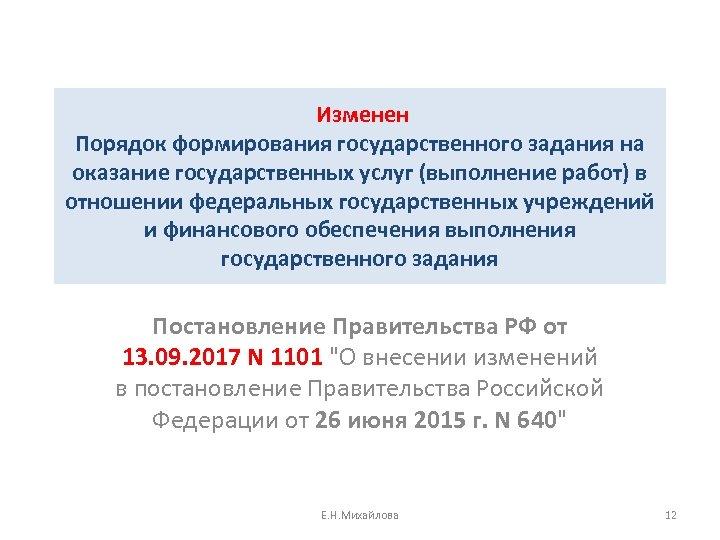 Изменен Порядок формирования государственного задания на оказание государственных услуг (выполнение работ) в отношении