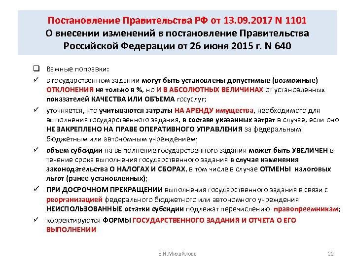 Постановление Правительства РФ от 13. 09. 2017 N 1101 О внесении изменений в постановление