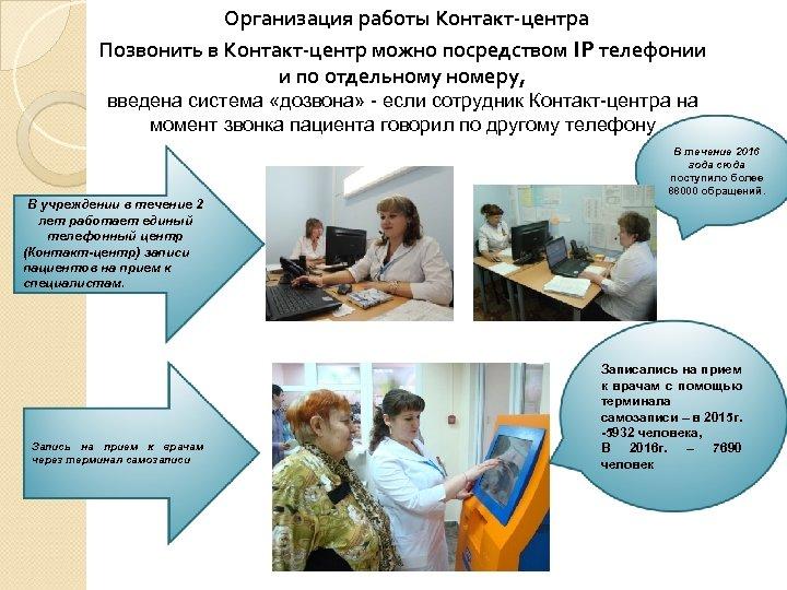 Организация работы Контакт-центра Позвонить в Контакт-центр можно посредством IP телефонии и по отдельному номеру,