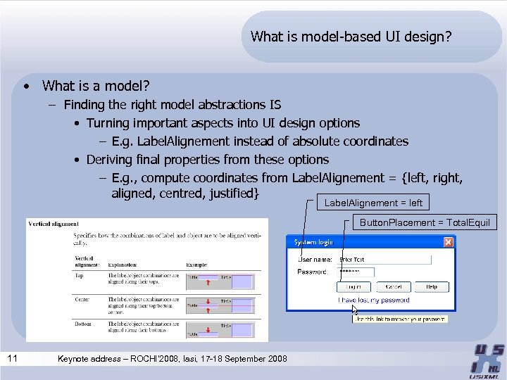 What is model-based UI design? • What is a model? – Finding the right