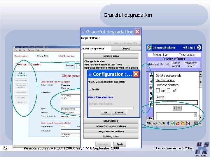 Graceful degradation 32 Keynote address – ROCHI' 2008, Iasi, 17 -18 September 2008 [Florins