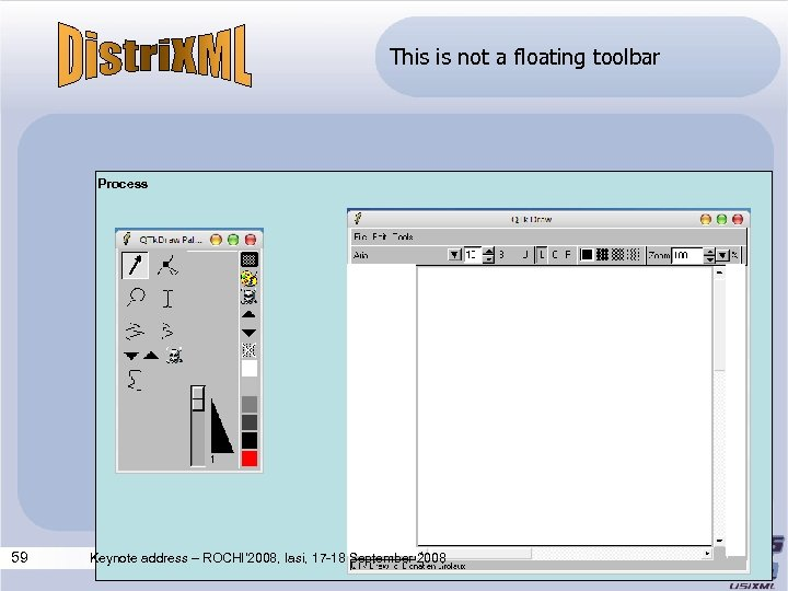 This is not a floating toolbar Process 59 Keynote address – ROCHI' 2008, Iasi,