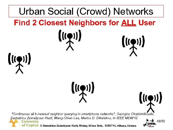 Dagstuhl Seminar 10042, Demetris Zeinalipour, University of Cyprus, 26/1/2010 Urban Social (Crowd) Networks Find
