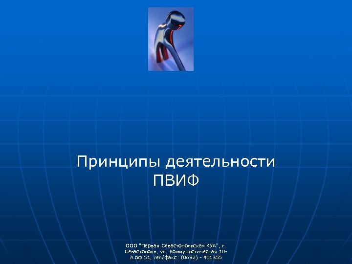 Принципы деятельности ПВИФ ООО