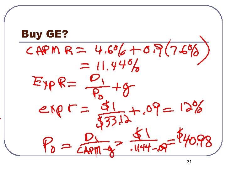 Buy GE? 21