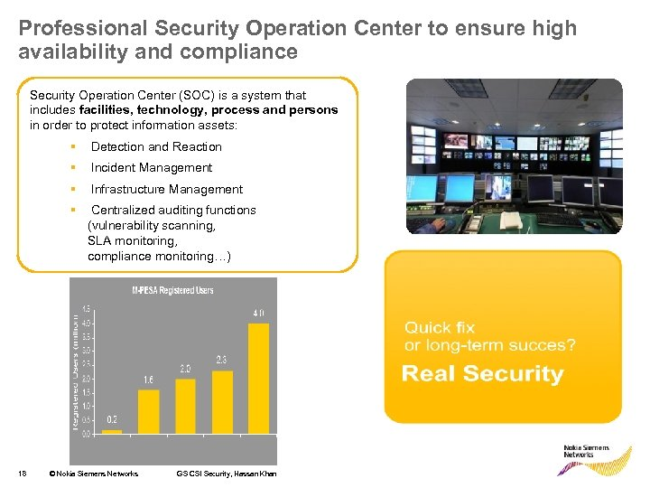 Professional Security Operation Center to ensure high availability and compliance Security Operation Center (SOC)