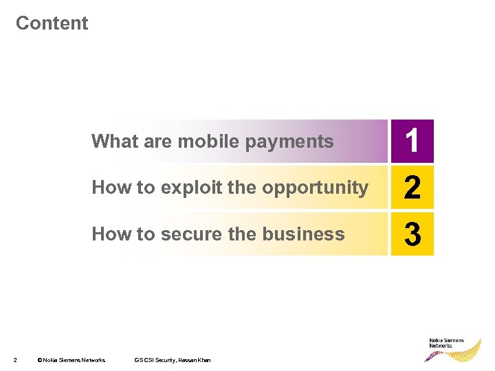 Content What are mobile payments How to exploit the opportunity How to secure the