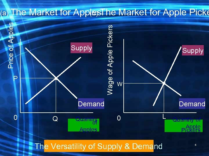 P Supply Wage of Apple Pickers Market for Apples. The Market for Apple Picke