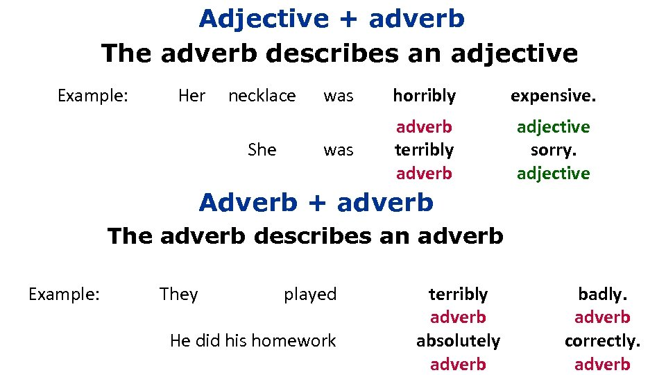 the difference between adjective and adverb