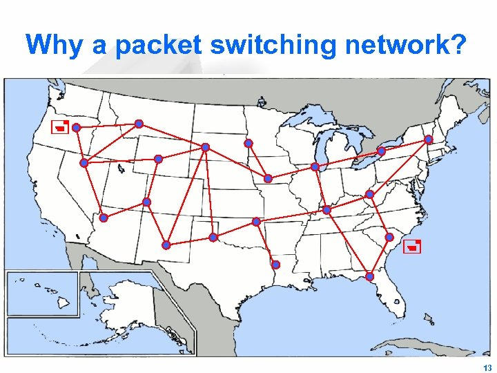 Why a packet switching network? 13