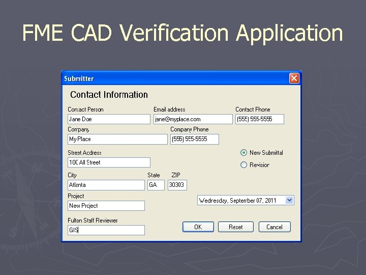 FME CAD Verification Application