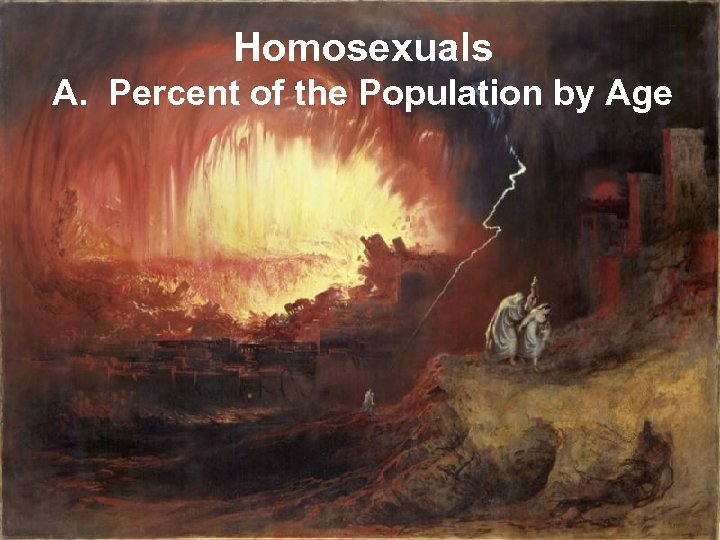 Homosexuals A. Percent of the Population by Age