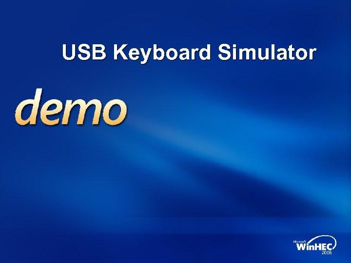 USB Keyboard Simulator